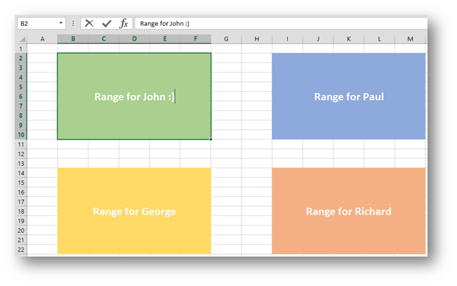 Allow users to edit ranges in Excel