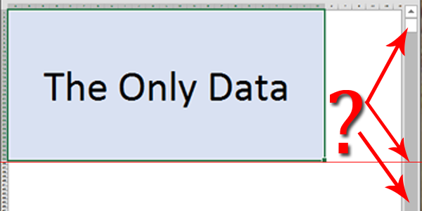 Scroll trouble in Excel (scrolling beyond your data) - Excel
