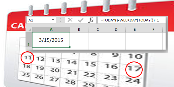 Formula to get the Start or End Date of the week - Excel