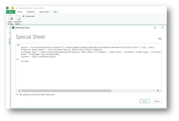 USE POWER QUERY'S GET DATA FROM FOLDER TO GET DATA FROM