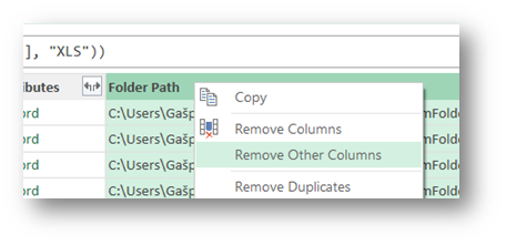 USE POWER QUERY'S GET DATA FROM FOLDER TO GET DATA FROM MULTIPLE EXCEL FILES
