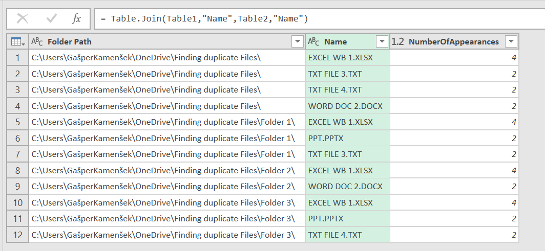 Power Query Table Join