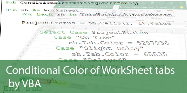 Conditional Colouring of Excel Sheet Tabs with VBA - Excel ...