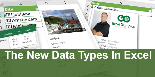 The New Data Types In Excel