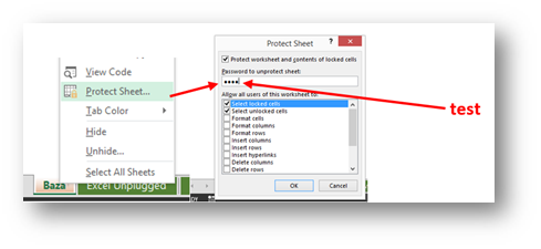 Excel Sheet Protection