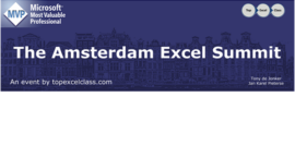Amsterdam Excel Summit 2018