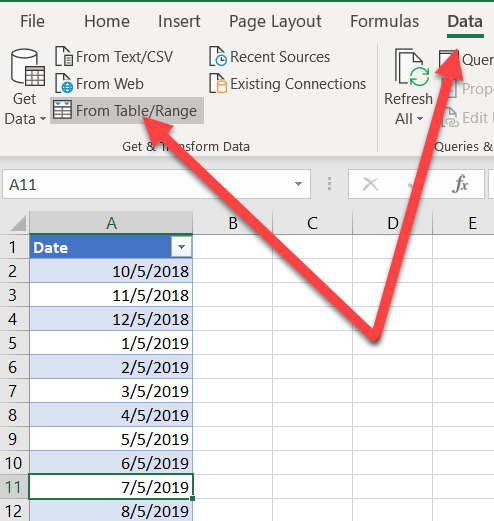 Start and end of week dates with Power Query