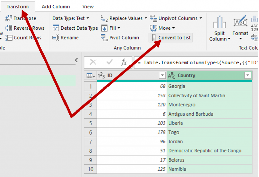Power Query Power BI Filtering Table to Dynamic List Image 5