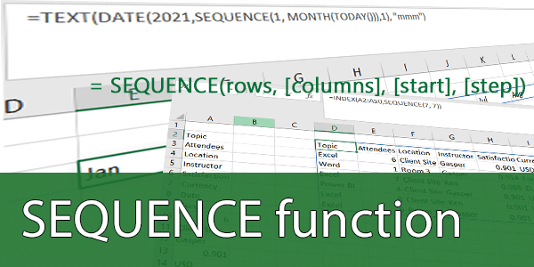 The Excel SEQUENCE function